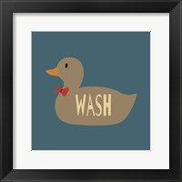 Framed Duck Family Boy Wash