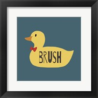 Framed Duck Family Boy Brush
