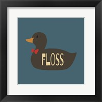 Framed Duck Family Boy Floss