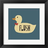 Framed Duck Family Boy Flush