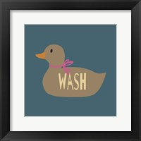 Framed Duck Family Girl Wash