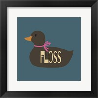 Framed Duck Family Girl Floss