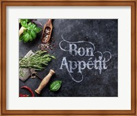 Framed Bon Appetit Herbs and Spices