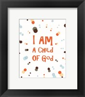 Framed I Am A Child Of God Radial Dots Orange
