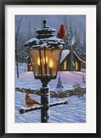 Framed Cardinal Perch
