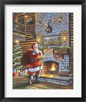 Framed Christmas Eve With Santa