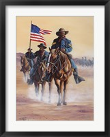 Framed Buffalo Soldiers