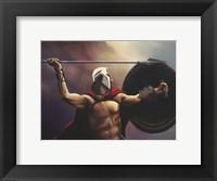 Framed Spartan Warrior