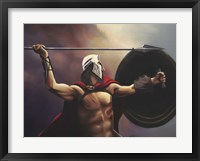 Framed Spartan Warrior