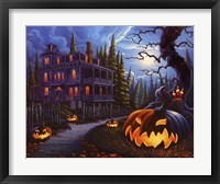 Framed Jack-o-Lantern Lane