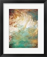 Framed Golden Sea Marble
