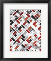 Framed Red Smoke Tile
