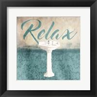 Framed Relax Sink Teal