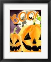 Framed Boo Pumpkins
