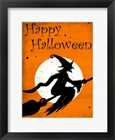 Framed Happy Halloween Witch