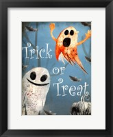 Framed Trick or Treat Ghosts