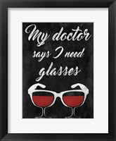 Framed Wine Glasses