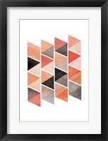 Framed School Of Rose Triangles