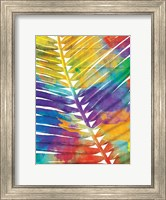 Framed Watercolorful Palms