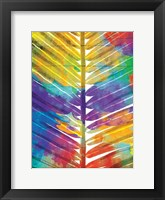 Framed Watercolorful Palms Mate
