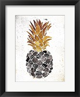 Framed Golden Mandala Pineapple