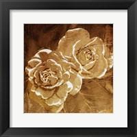 Framed Loving Gold Roses