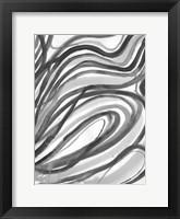 Framed Charcoal Ripples 2