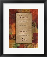 Framed Live Laugh Love Autumn Blooms