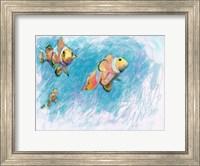 Framed Clowfish Trio