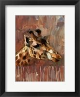 Framed Giraffe Profile