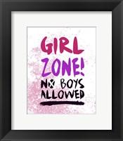 Framed Girl Zone-Grunge