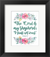 Framed Lord Is My Shepherd-Floral