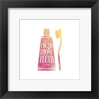 Framed Brush Those Teeth Watercolor Silhouette