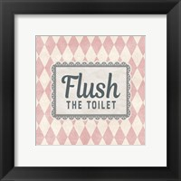 Framed Flush The Toilet Pink Pattern