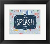 Framed Splish and Splash Fish Pattern Blue Part II