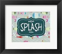 Framed Splish and Splash Fish Pattern Green Part II