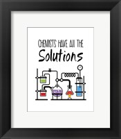 Framed Chemists Have All The Solutions White