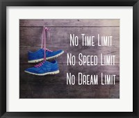 Framed No Time Limit No Speed Limit No Dream Limit Blue Shoes