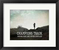 Framed Champions Train Woman Black and White