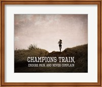 Framed Champions Train Woman Color