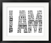 Framed Names of Jesus I AM Silhouette White