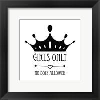 Framed Girls Only Crown White