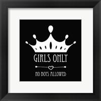 Framed Girls Only Crown Black