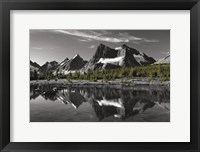 Framed Amethyst Lake Reflection BW with Color