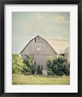 Framed Late Summer Barn II Crop