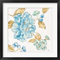 Framed Blue Blossom II