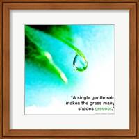 Framed Single Gentle Rain - Henry Thoreau Quote (Droplet)