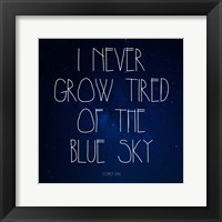 Framed Blue Sky - Stephen King Quote