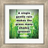 Framed Single Gentle Rain - Henry Thoreau Quote (Vibrant)