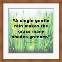 Framed Single Gentle Rain - Henry Thoreau Quote (Light)